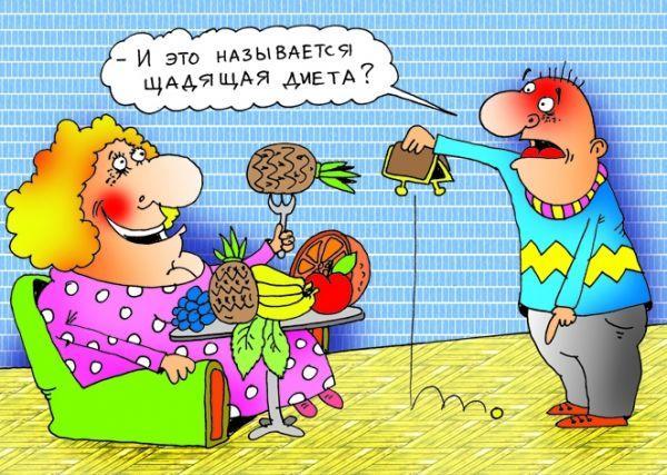 карикатура похудение