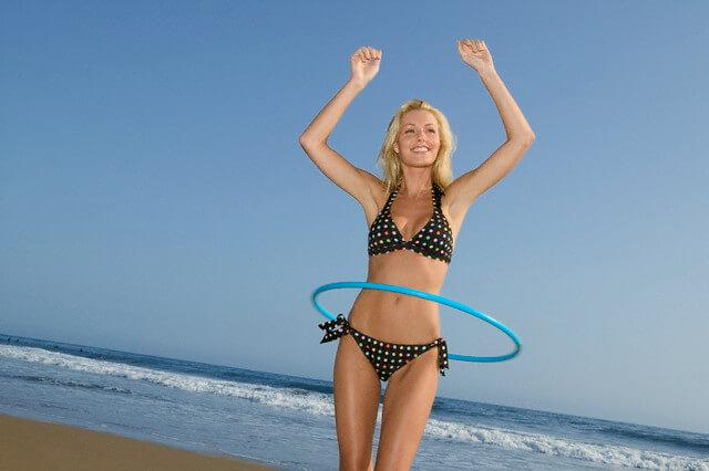 Woman in Bikini with Hula Hoop