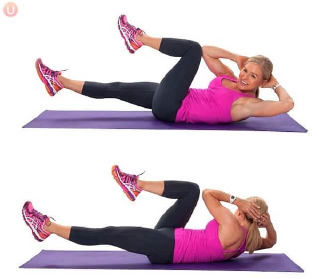 Упражнения на скручивание для похудения