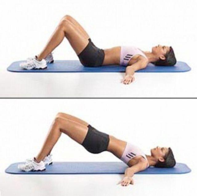 Упражнения от ушек на бедрах для похудения в домашних ... Махи Ногами Назад