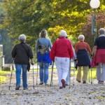 Скандинавская ходьба с палками для пожилых