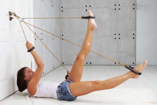 Верёвочный тренажёр похудей своими руками
