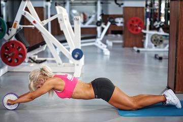 Гимнастический ролик какие мышцы работают