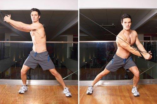 упражнение косые мышцы живота дровосек