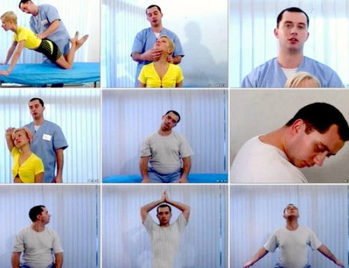 упражнение для шеи по бубновскому видео