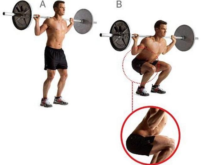 Как правильно приседать со штангой: техника и варианты упражнения