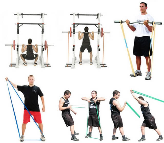 Упражнения с фитнес-резинками для мужчин