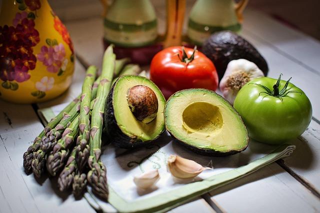Овощи, авокадо
