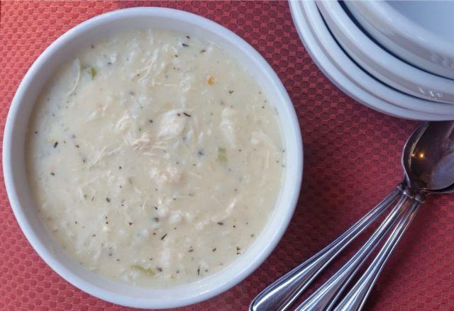 Густой рисовый суп